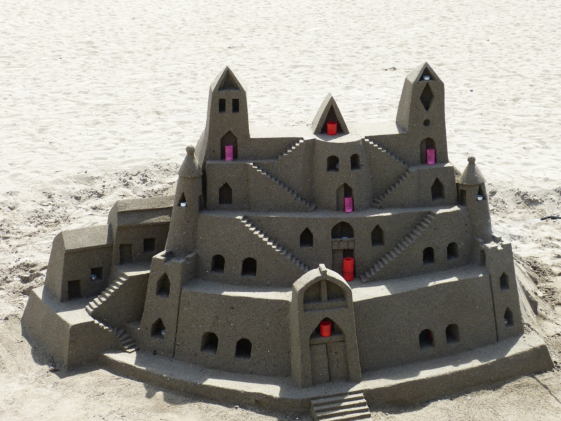Smooth sandcastle 3 levels with windows